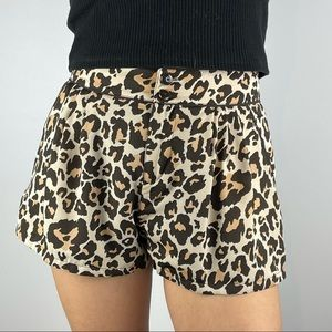 H&M Fully Lined Animal Print Shorts - Size 8